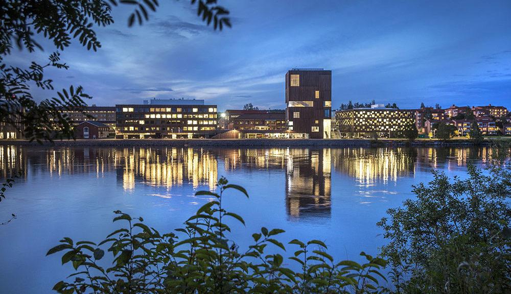 Konstnärligt Campus. En del av Umeå Universitet med Konsthögskola, Bildmuseet och Arkitekthögskolan och Campus. Photo: Johan Gunséus