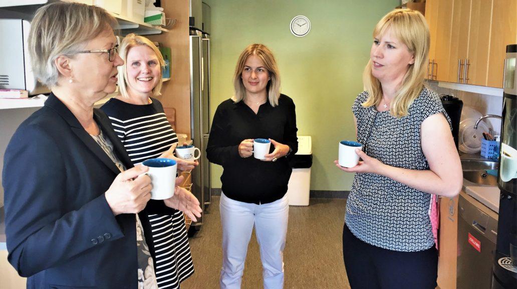 The delegation from Vinnova consisted of Lena Nyberg, Maria Kaaman and Emelie Falk. Photo: Carolina Hawranek